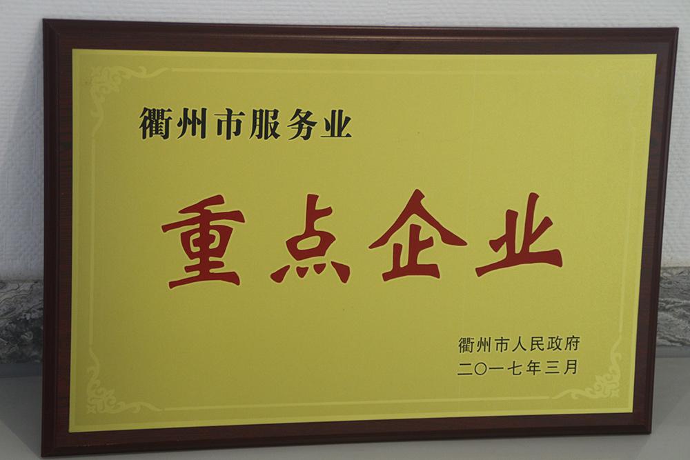 衢州市服务业重点企业